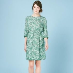 Boden Green Paisley Dolly Day Faux Wrap Dress